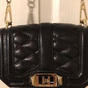 Rebecca Minkoff black leather crossbody handbag